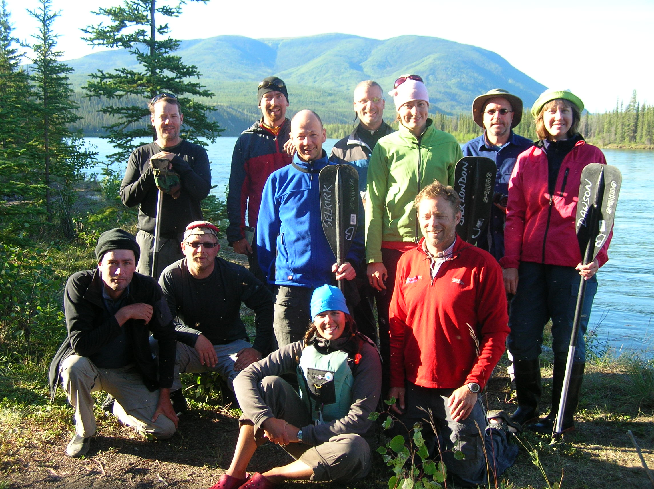 teslin river canoeing
